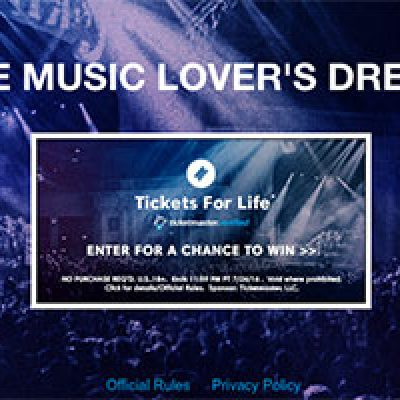 Ticketmaster Tickets For Life Giveaway