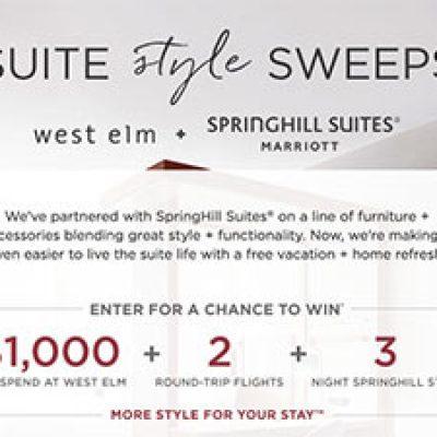 Win $1,000 West Elm Shopping + Flights + Hotel