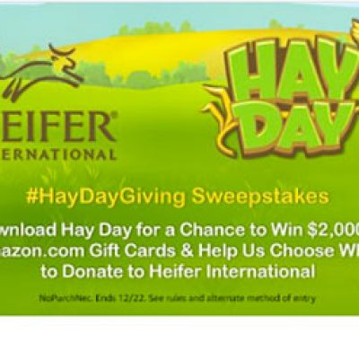 Hay Day: Win a $2,000 Amazon Gift Card - Sweep Geek