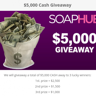 SoapHub: Win $2,500