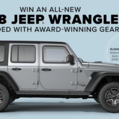 Win a 2018 Jeep Wrangler