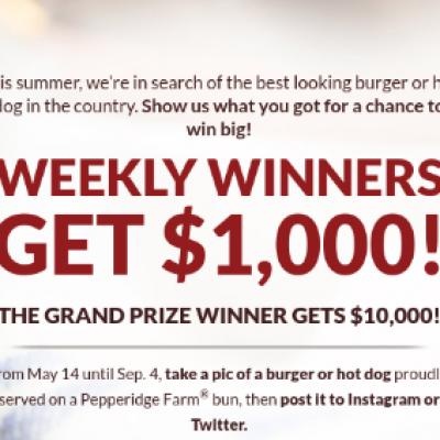 Pepperidge Farm: Win $10K or $1K Weekly
