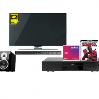 Win a 4K Home Theater + Year Of Redbox